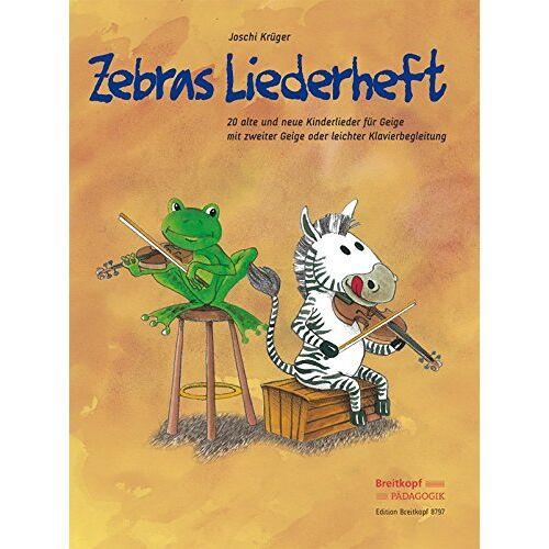 Joschi Krüger - Zebras Liederheft: 20 alte und neue Kinderlieder für Geige mit zweiter Geige oder leichter Klavierbegleitung (EB 8797) - Preis vom 13.04.2021 04:49:48 h