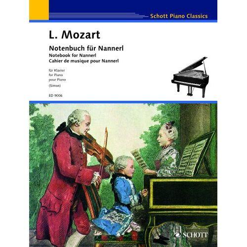Stefan Simon - Notenbuch für Nannerl: Klavier. (Schott Piano Classics) - Preis vom 24.02.2021 06:00:20 h