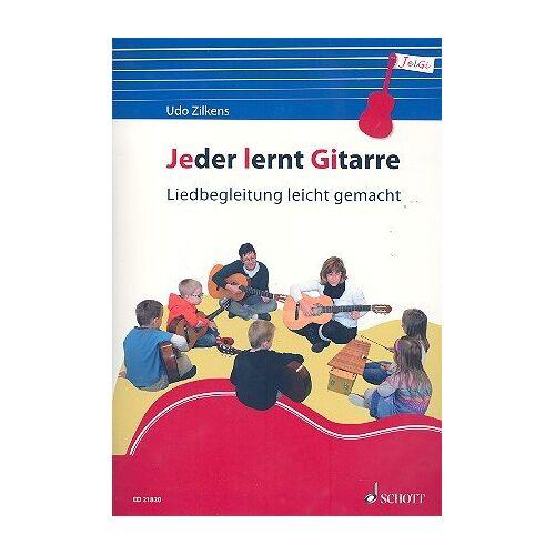 Udo Zilkens - Jeder lernt Gitarre: Liedbegleitung leicht gemacht. Gitarre. Lehrbuch. - Preis vom 21.10.2020 04:49:09 h