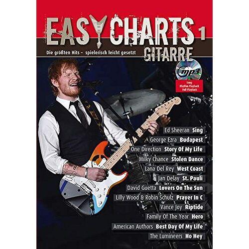 Jan Jakut - Easy Charts Gitarre: Die größten Hits - für Gitarre spielerisch leicht gesetzt. Band 1. Gitarre, E-Gitarre. Spielbuch mit CD. (Music Factory) - Preis vom 05.03.2021 05:56:49 h
