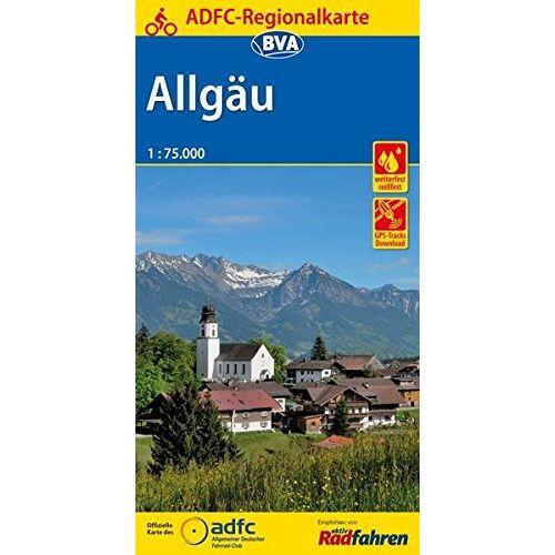 Allgemeiner Deutscher Fahrrad-Club e.V. (ADFC) - ADFC-Regionalkarte Allgäu 1:75.000, reiß- und wetterfest, GPS-Tracks Download (ADFC-Regionalkarte 1:75000) - Preis vom 09.04.2021 04:50:04 h