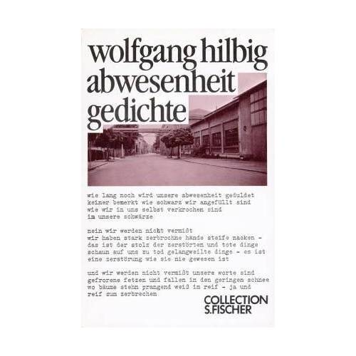 Wolfgang Hilbig - Abwesenheit. - Preis vom 06.05.2021 04:54:26 h