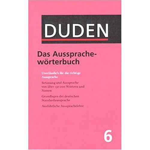 - Der Duden, 12 Bde., Band 6, Duden Aussprachewörterbuch - Preis vom 05.09.2020 04:49:05 h