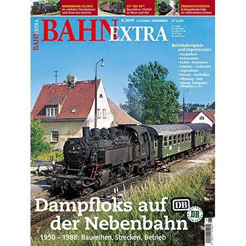 Bahn Extra - Bahn Extra 06/19. Dampfloks auf der Nebenbahn bei DB und DR 1950 - 1988. Mit Video-DVD - Preis vom 10.09.2020 04:46:56 h