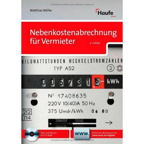 Matthias Nöllke - Nebenkostenabrechnung für Vermieter - Preis vom 21.10.2020 04:49:09 h