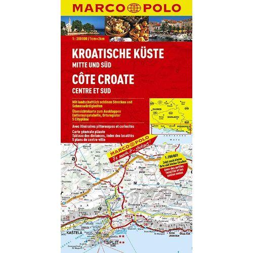 - MARCO POLO Karte Kroatische Küste, Mitte und Süd 1:200.000 - Preis vom 10.05.2021 04:48:42 h