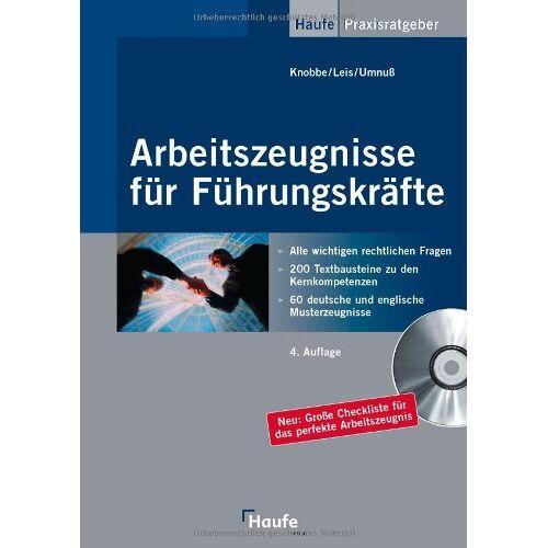 Thorsten Knobbe - Arbeitszeugnisse für Führungskräfte - Preis vom 20.10.2020 04:55:35 h