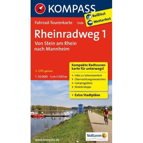 - Rheinradweg 1, Von Stein am Rhein nach Mannheim: Fahrrad-Tourenkarte. GPS-genau. 1:50000. (KOMPASS-Fahrrad-Tourenkarten) - Preis vom 05.09.2020 04:49:05 h