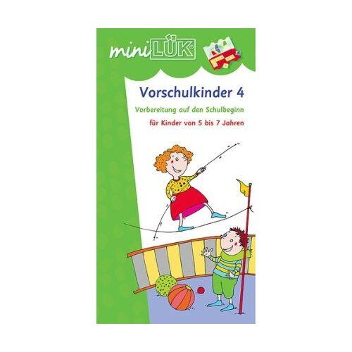 Heinz Vogel - miniLÜK: Vorschulkinder 4: Vorbereitung auf den Schulbeginn für Kinder von 5 bis 7 Jahren: Spielreihen zur Vorbereitung auf den Schulbeginn - Preis vom 09.04.2021 04:50:04 h