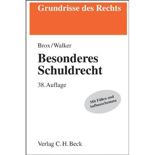 Hans Brox - Besonderes Schuldrecht - Preis vom 16.05.2021 04:43:40 h