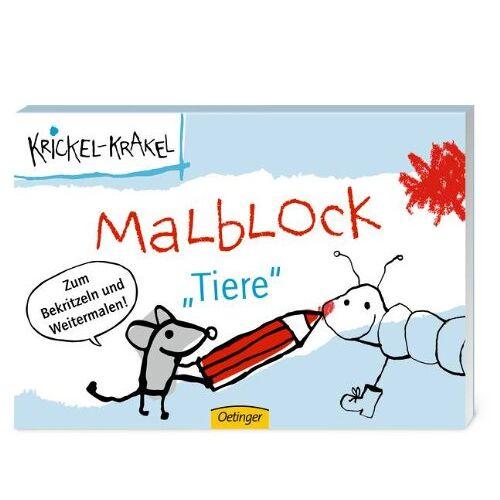 Die Krickelkrakels - Krickel-Krakel Malblockbuch Tiere - Preis vom 26.02.2021 06:01:53 h
