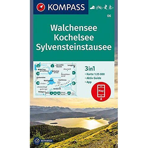 KOMPASS-Karten GmbH - Walchensee, Kochelsee, Sylvensteinstausee: 3in1 Wanderkarte 1:25000 mit Aktiv Guide inklusive Karte zur offline Verwendung in der KOMPASS-App. ... Langlaufen. (KOMPASS-Wanderkarten, Band 6) - Preis vom 01.12.2019 05:56:03 h