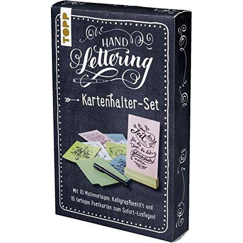 frechverlag - Handlettering Kartenhalter-Set: Kartenhalter mit 10 Postkarten zum Handlettern - Preis vom 20.10.2020 04:55:35 h