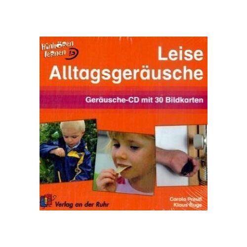 Carola Preuss - Leise Alltagsgeräusche: Geräusche-CD mit 30 Bildkarten: Hinhören lernen. Geräusche-CD mit 30 Bildkarten - Preis vom 14.04.2021 04:53:30 h