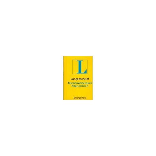 - Langenscheidts Taschenwörterbuch der griechischen und deutschen Sprache : Teil 1, Altgriechisch-Deutsch - Preis vom 10.05.2021 04:48:42 h