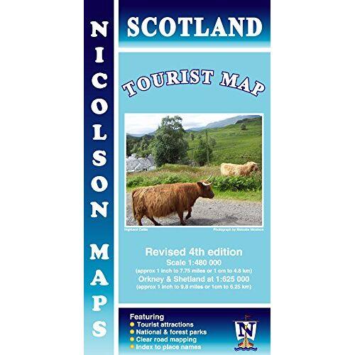 Nicolson Maps - Nicolson Map: Scotland Tourist Map 1 : 480 000 - Preis vom 22.01.2020 06:01:29 h