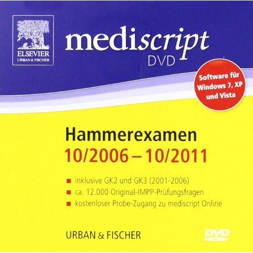mediscript - Mediscript 2. Abschnitt der Ärztlichen Prüfung DVD, Hammerexamen 10/06-10/11: inklusive GK2 (3/01-8/05) und GK3 (3/01 - 8/06) - Preis vom 14.04.2021 04:53:30 h