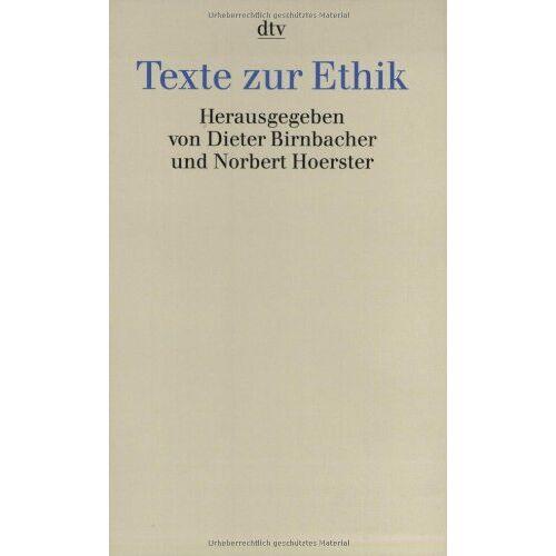 Dieter Birnbacher - Texte zur Ethik - Preis vom 28.02.2021 06:03:40 h