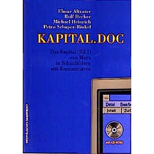 Elmar Altvater - KAPITAL.DOC - Das Kapital (Bd. 1) von Marx in Schaubildern mit Kommentaren (mit CD-ROM) - Preis vom 18.04.2021 04:52:10 h