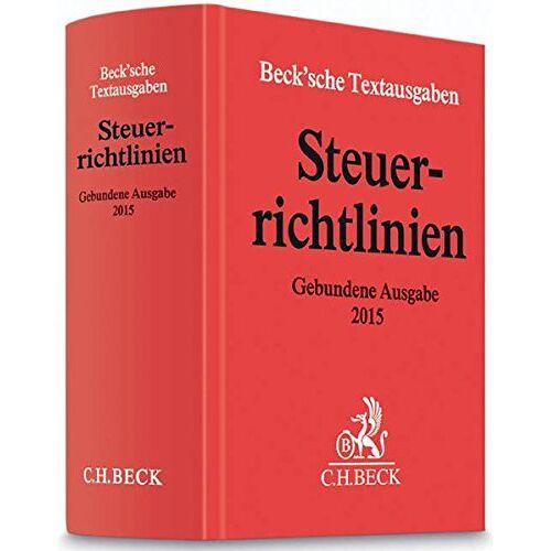Beck C. H. - Steuerrichtlinien Gebundene Ausgabe 2015: Einkommensteuer-Richtlinien, Lohnsteuer-Richtlinien, Wohnungsbau-Prämienrichtlinien, ... April 2015 (Beck'sche Textausgaben) - Preis vom 05.09.2020 04:49:05 h