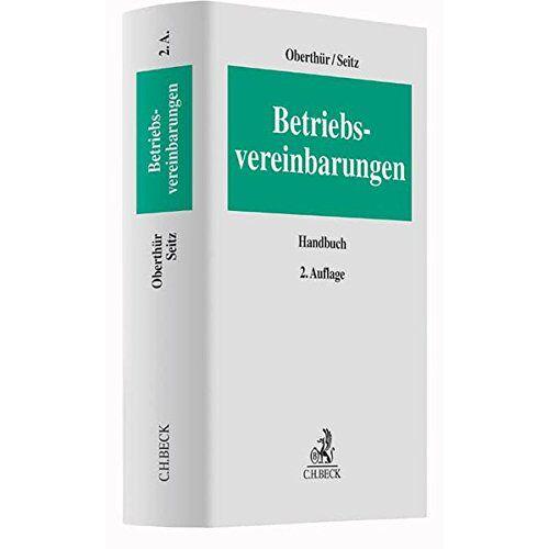 Nathalie Oberthür - Betriebsvereinbarungen - Preis vom 03.05.2021 04:57:00 h
