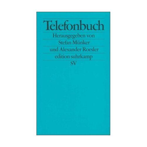 Stefan Münker - Telefonbuch: Beiträge zu einer Kulturgeschichte des Telefons (edition suhrkamp) - Preis vom 28.02.2021 06:03:40 h