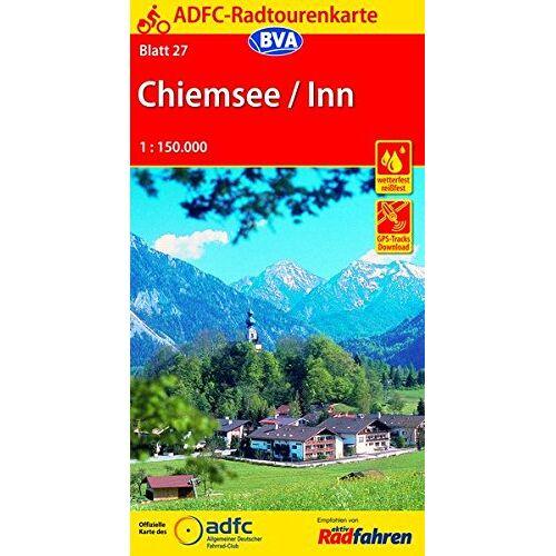 Allgemeiner Deutscher Fahrrad-Club e.V. (ADFC) - ADFC-Radtourenkarte 27 Chiemsee / Inn 1:150.000, reiß- und wetterfest, GPS-Tracks Download (ADFC-Radtourenkarte 1:150000) - Preis vom 09.04.2021 04:50:04 h