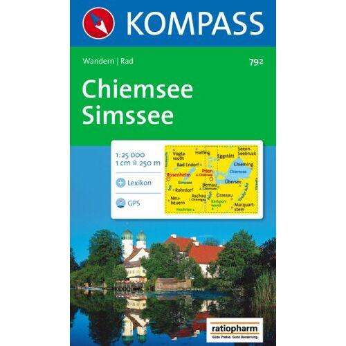 Collectif - Chiemsee - Simssee 1 : 25 000: Wanderkarte mit Kurzführer und Radrouten. GPS-geeignet - Preis vom 11.05.2021 04:49:30 h