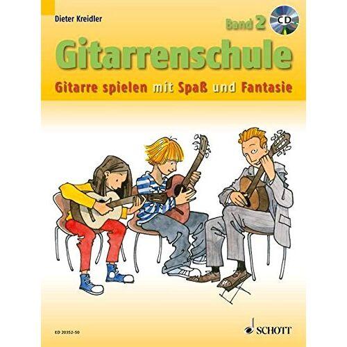 Dieter Kreidler - Gitarrenschule: Gitarre spielen mit Spaß und Fantasie - Neufassung. Band 2. Gitarre. Ausgabe mit CD. (Kreidler Gitarrenschule) - Preis vom 25.02.2020 06:03:23 h