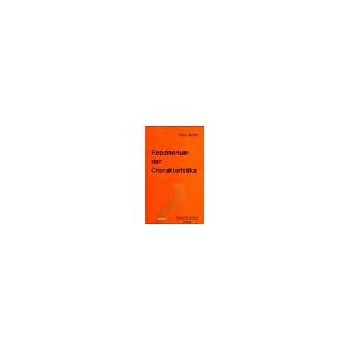 - Repertorium der Charakteristika - Preis vom 05.09.2020 04:49:05 h