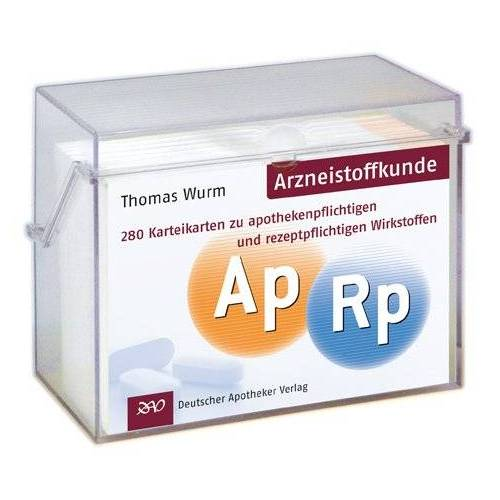Thomas Wurm - Karteikarten Arzneistoffkunde: 280 Karteikarten zu apothekenpflichtigen und rezeptpflichtigen Wirkstoffen - Preis vom 06.09.2020 04:54:28 h