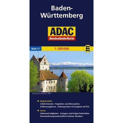 - ADAC Bundesländerkarte Baden-Württemberg 1:300.000 - Preis vom 06.04.2021 04:49:59 h