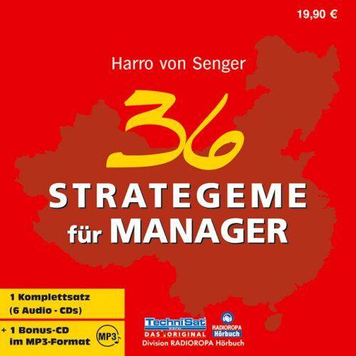 Senger, Harro von - 36 Strategeme für Manager. 6 CDs + MP3-CD - Preis vom 14.04.2021 04:53:30 h