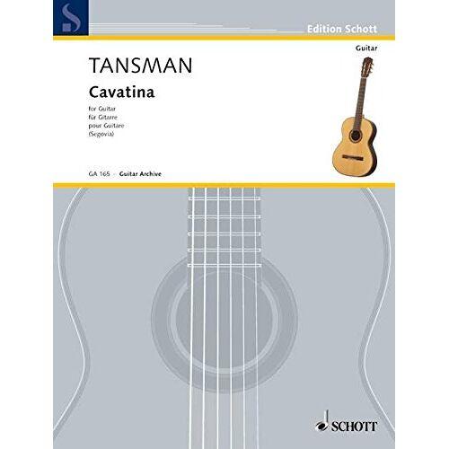Andres Segovia - Cavatina: Gitarre. (Edition Schott) - Preis vom 18.01.2021 06:04:29 h