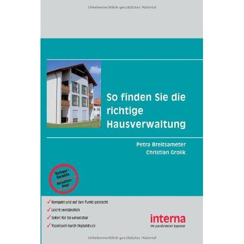 Petra Breitsameter - So finden Sie die richtige Hausverwaltung - Preis vom 21.10.2020 04:49:09 h