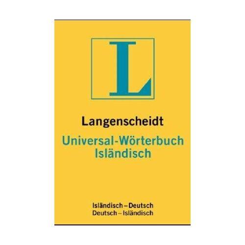 Ingvar G. Brynjólfsson - Langenscheidts Universal-Wörterbuch Isländisch : Isländisch-Deutsch ; Deutsch-Isländisch - Preis vom 03.05.2021 04:57:00 h