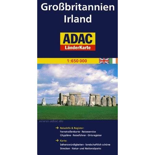 - ADAC Länderkarte Großbritannien, Irland 1:650.000 - Preis vom 16.01.2020 05:56:39 h