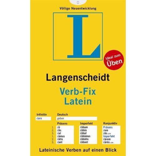 Langenscheidt, Redaktion von - Langenscheidt Verb-Fix Latein - Verb-Fix (Langenscheidt Verb-Fixe) - Preis vom 05.09.2020 04:49:05 h