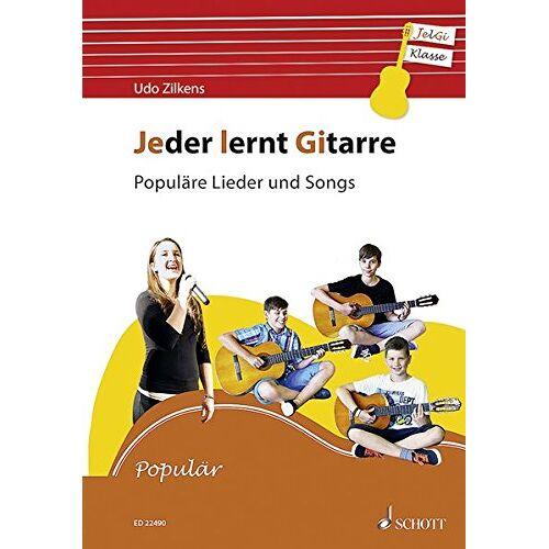 Udo Zilkens - Jeder lernt Gitarre - Populäre Lieder und Songs: JelGi-Liederbuch für allgemein bildende Schulen. Gitarre. Lehrbuch. - Preis vom 22.02.2020 06:00:29 h