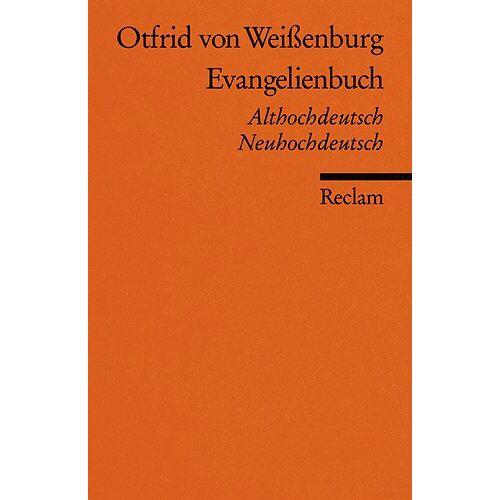 Otfrid von Weißenburg - Evangelienbuch: Althochdt. /Neuhochdt.: Auswahl. Althochdeutsch/Neuhochdeutsch - Preis vom 28.02.2021 06:03:40 h