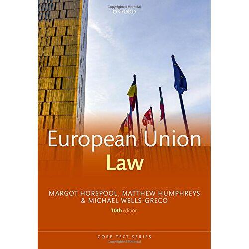 Margot Horspool - European Union Law (Core Texts) - Preis vom 18.04.2021 04:52:10 h