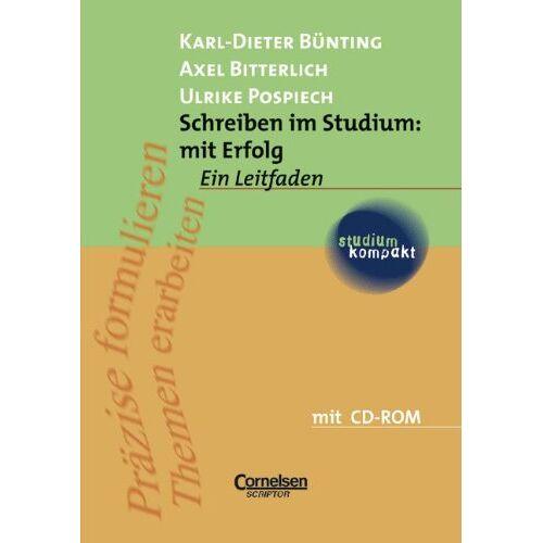 Axel Bitterlich - studium kompakt - Pädagogik: Schreiben im Studium: mit Erfolg: Studienbuch mit CD-ROM - Preis vom 06.09.2020 04:54:28 h