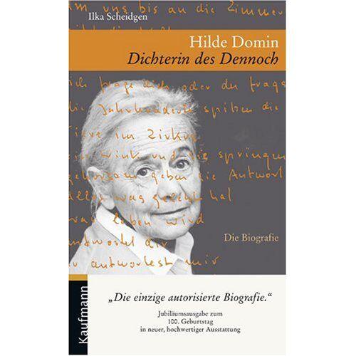 Ilka Scheidgen - Hilde Domin. Dichterin des Dennoch - Preis vom 17.01.2021 06:05:38 h