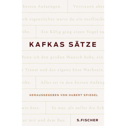 Hubert Spiegel - Franz Kafka. Kafkas Sätze - Preis vom 15.05.2021 04:43:31 h