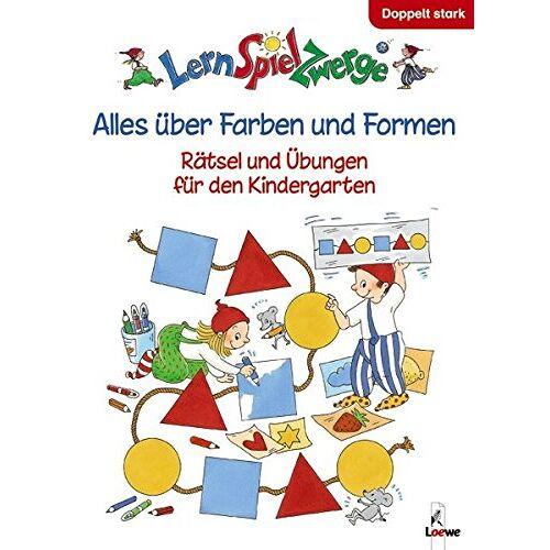 Simone Wirtz - LernSpielZwerge Übungsbuch: Alles über Farben und Formen - Rätsel und Übungen für den Kindergarten - Preis vom 11.05.2021 04:49:30 h