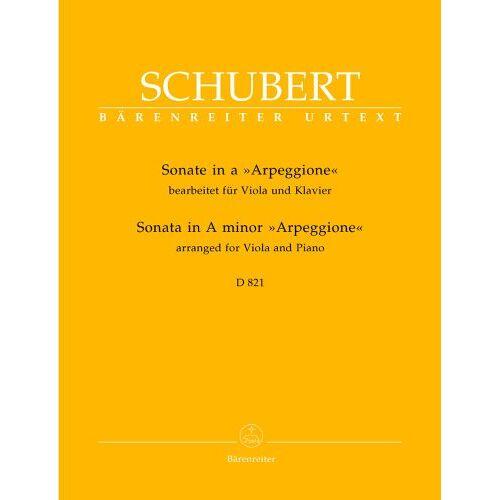 Franz Schubert - Sonate für Viola und Klavier a-Moll D 821 Arpeggione. Spielpartitur(en), Stimme(n) - Preis vom 18.10.2020 04:52:00 h