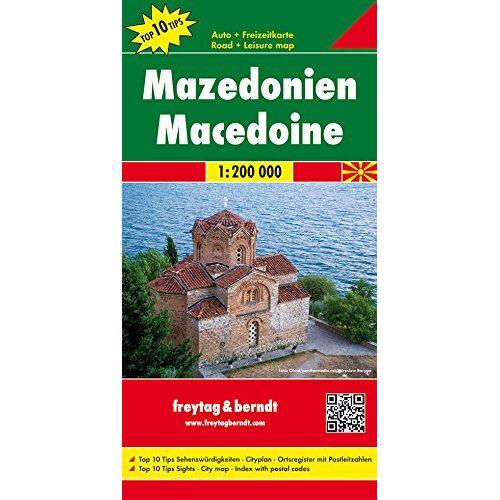 Freytag-Berndt und Artaria KG - Freytag Berndt Autokarten, Mazedonien, Top 10 Tips - Maßstab 1:200.000 - Preis vom 18.04.2021 04:52:10 h