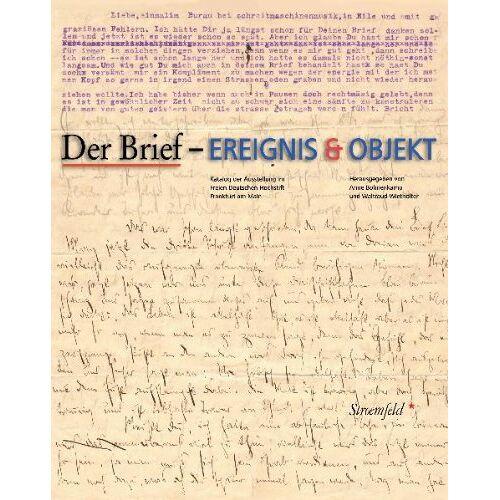 Anne Bohnenkamp - Der Brief - Ereignis und Objekt - Preis vom 20.10.2020 04:55:35 h