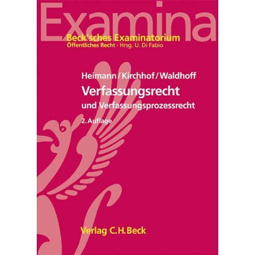 Heimann, Hans Markus - Verfassungsrecht und Verfassungsprozessrecht - Preis vom 08.04.2021 04:50:19 h
