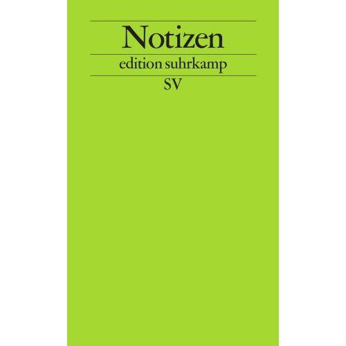 - Notizbuch edition suhrkamp: Notizen - Preis vom 20.10.2020 04:55:35 h
